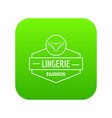 lingerie female icon green vector image vector image
