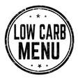 low carb menu grunge rubber stamp vector image vector image