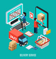 mail isometric concept vector image vector image