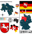 Map of Lower Saxony vector image vector image