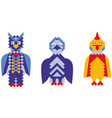 mosaic style colorful birds vector image