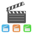 movie filming colored icons vector image vector image