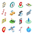 Navigation icons set isometric 3d style vector image vector image