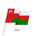 Oman Ribbon Waving Flag Isolated on White vector image