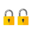 open and closed padlock vector image