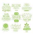 Organic Food Calligraphic Label Set vector image vector image