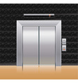passenger elevator with closed doors vector image vector image