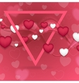 Pink Valentines Day abstract background vector image vector image