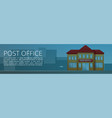 post office building concept banner cartoon style vector image vector image