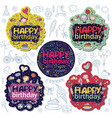 poster for the birthday greetings vector image vector image