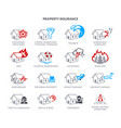 property insurance icons vector image