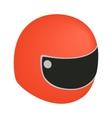 racing helmet isometric 3d icon vector image