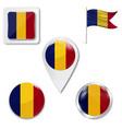 romania flag romania symbol vector image vector image