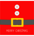 Santa Claus Coat with buttons and belt Christmas vector image vector image