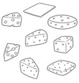 set of cheese vector image vector image