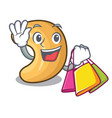 shopping cashew nut salty roasted on cartoon vector image