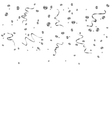 silver confetti background vector image vector image