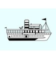 small white retro ship vector image vector image