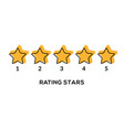 star rate 5 review icon five rate vector image vector image