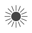 Sun icon Gray sign design vector image vector image
