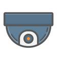surveillance camera colorful line icon cctv vector image vector image