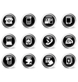 Telephone Icons icons vector image vector image