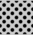 tile pattern with black polka dots on grey vector image