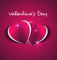 two hearts couple Valentines day vector image