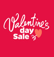 valentines day sale poster special offer discount vector image
