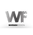 wf w f lines letter design with creative elegant vector image vector image