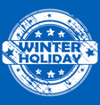 winter holiday rubber stamp vector image vector image