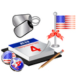Collection for 4th july small vector image