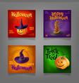 halloween party design set vector image