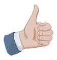 hand sign like vector image