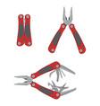 stainless steel multifunctional pocket multi tool vector image