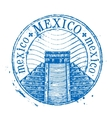 Mexico logo design template Shabby stamp vector image