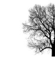 silhouette of tree for your vector image