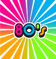 80s Vintage Color Background vector image vector image