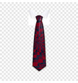 abstract tie icon realistic style vector image