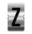 Alphabet silver flipboard letters z vector image vector image