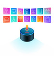amazon echo dot on white background smart speaker vector image vector image