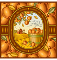 Apple harvest vector image vector image