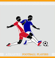 Athletes footballers vector image vector image