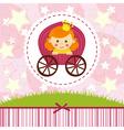 baby girl princess vector image vector image
