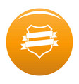 badge design icon orange vector image vector image