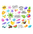 beach party objects vector image vector image