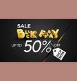 black friday sale banner layout design background vector image vector image