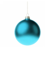 Blue 3d christmas Bauble vector image vector image