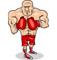 boxer sportsman cartoon vector image