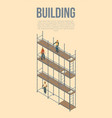 building scaffolds concept background isometric vector image